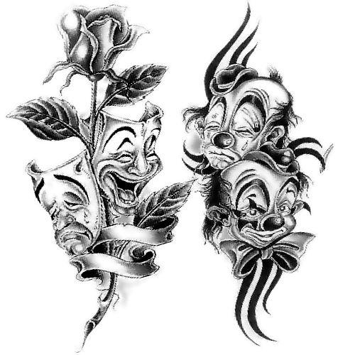 Wzór Tatuażu Maski Monika Wypożyczalnia Sprzętu